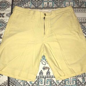 Yellow JCrew men's shorts size 34